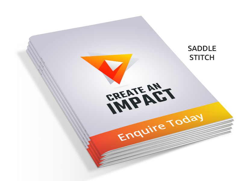 Booklets 100gsm Uncoated digitally printed Saddle stitched