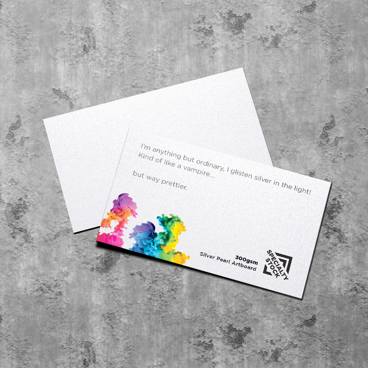 300gsm Silver Pearl Specialty