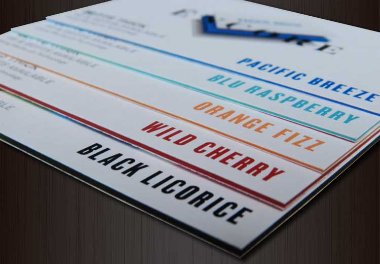 Encore Multiloft Layered Business Cards Core-Colours sample idprint