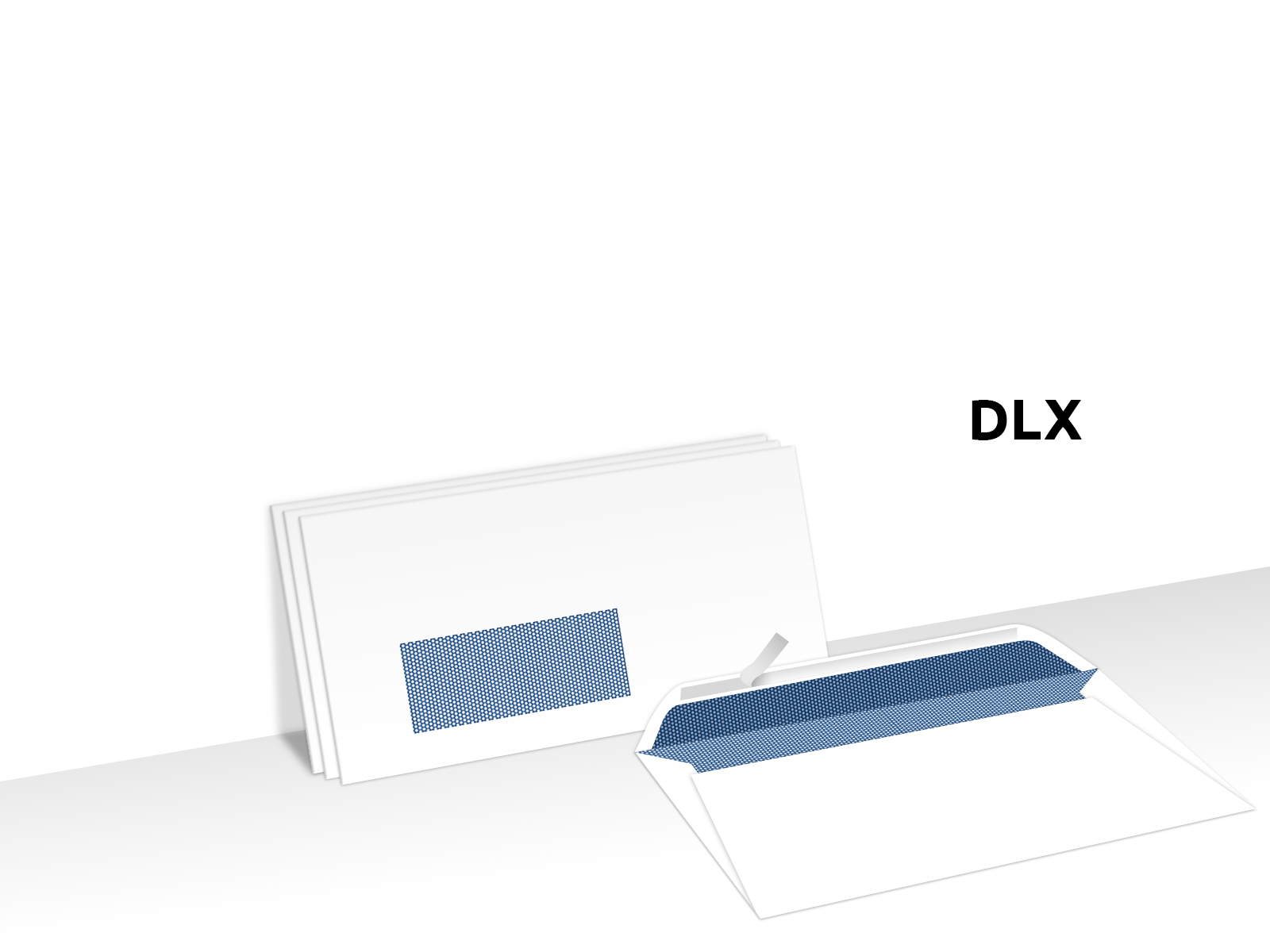 Envelopes Secretive Window Face Peel & Seal Custom Printed DLX