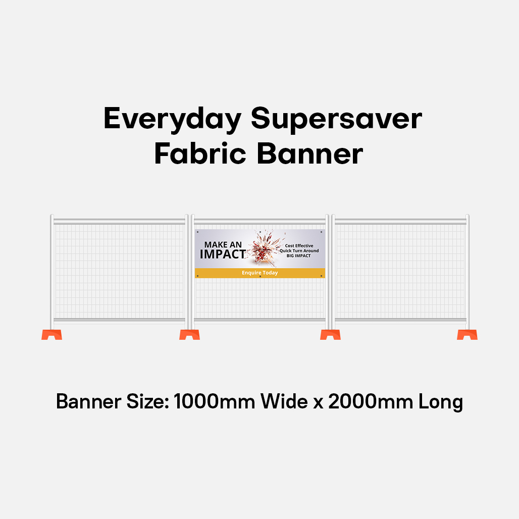 Fabric Banner Super Saver discounted Banner