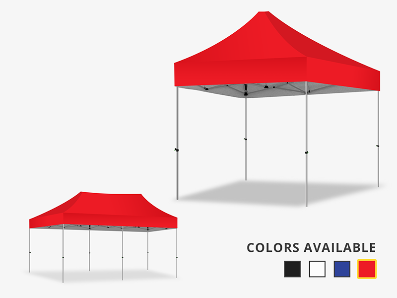 Marquee Gazebo Red Canopy