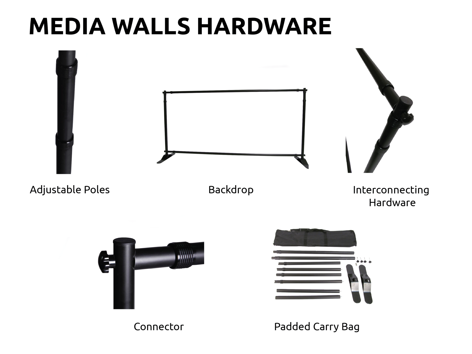 Media Wall hardware only Sunshine Coast 1