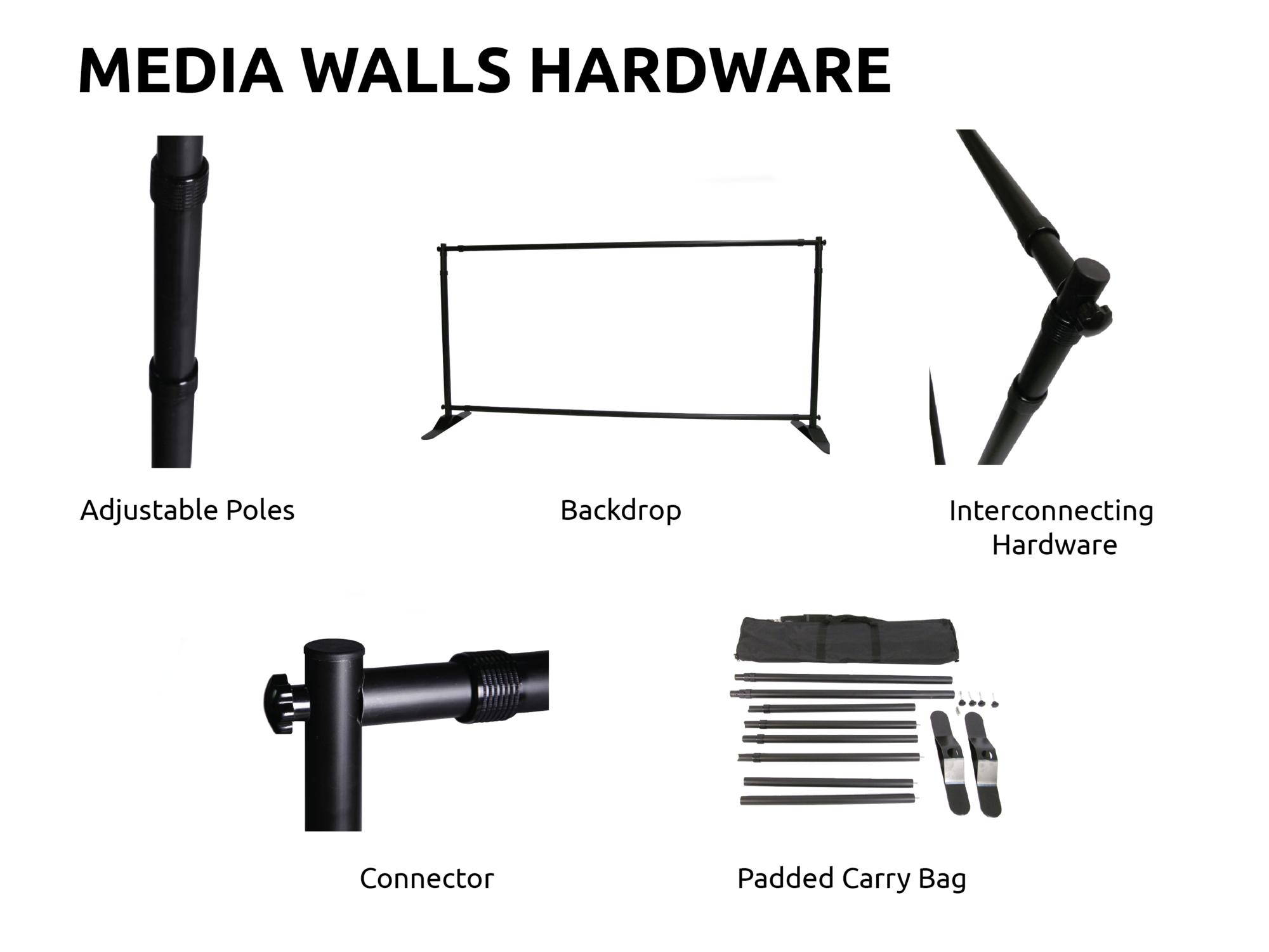 Media Wall hardware only Sunshine Coast 1