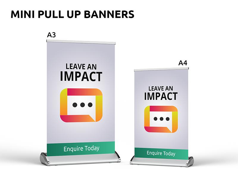 Mini - Pull Up Banner Sets Sunshine Coast POS