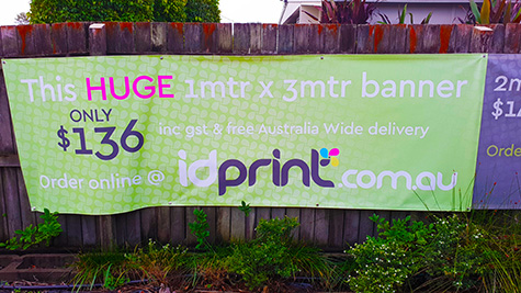 Banner Outdoor Vinyl 3 mtre example
