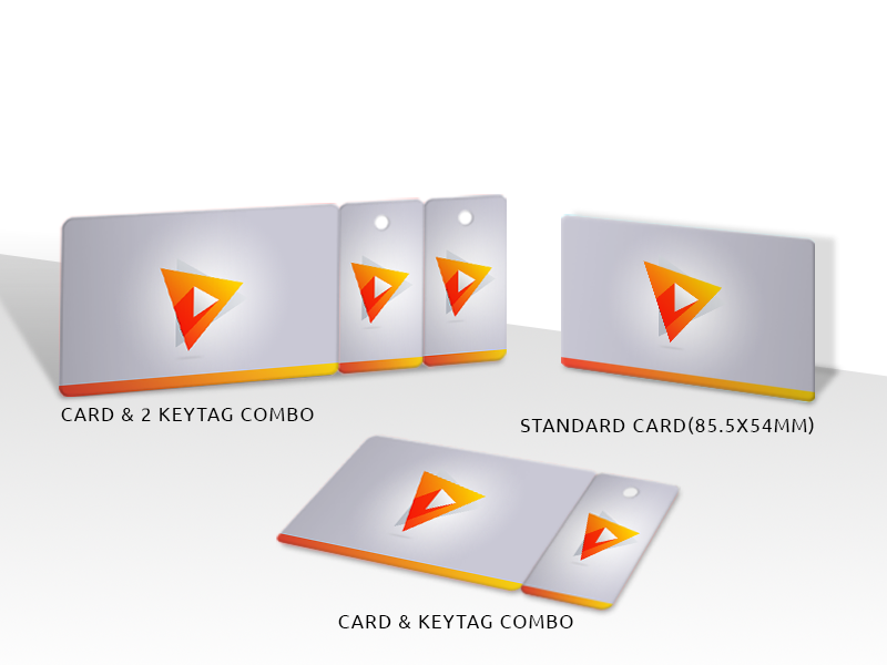 PVC Plastic Card and Keycard combo