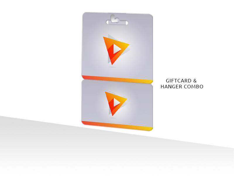 PVC Plastic Gift Cards & Hanger Combo