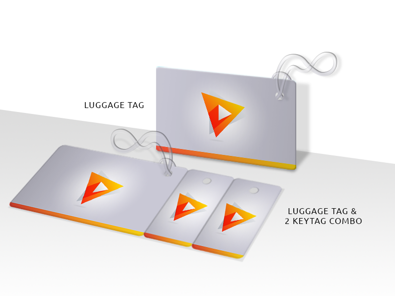 PVC Plastic Luggage Tag