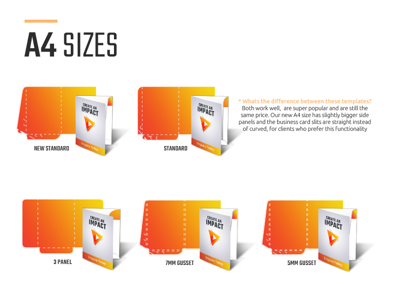 Presentation Folders A4 Sizes