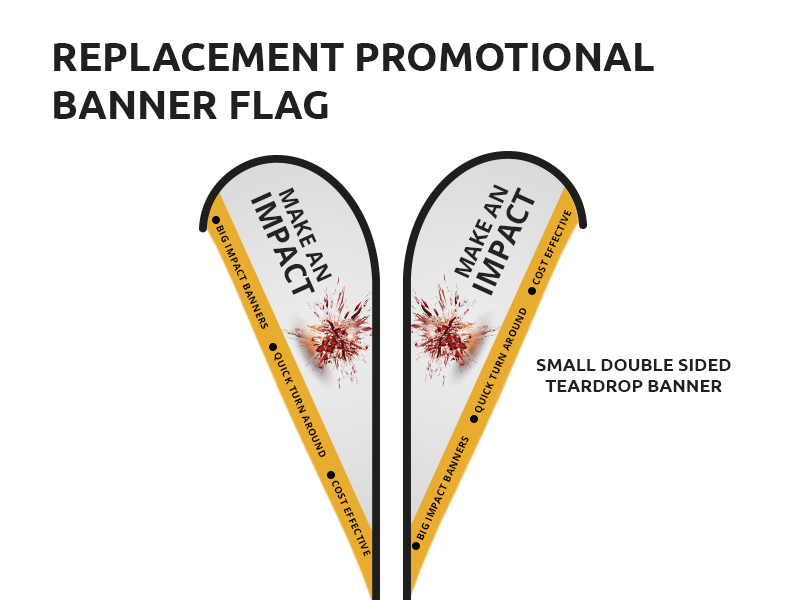 Promotional Replacement Banner Flags