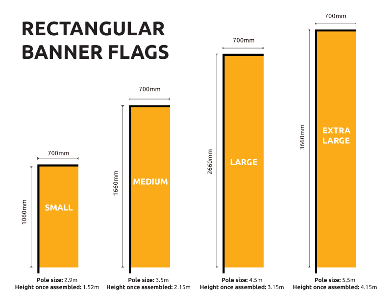 Replacement Flag Banners Rectangle