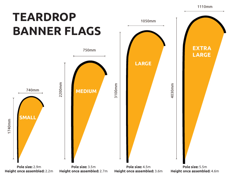 Replacement Flag Banners Teardrop