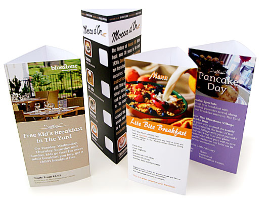310gsm Gloss Two Sided Table Talker