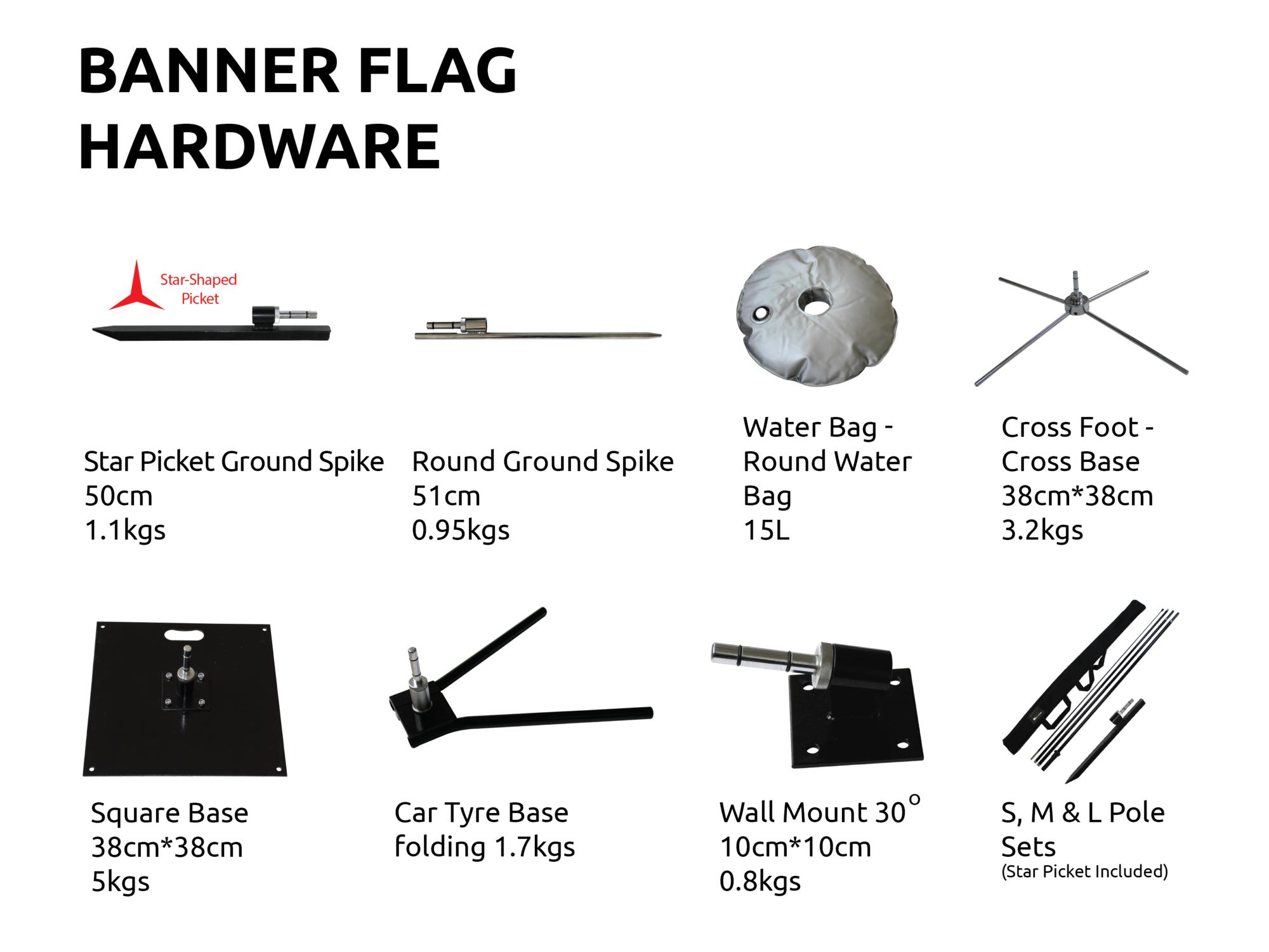 Teardrop Or Feather Banner Flags Sunshine Coast Flag Base Options