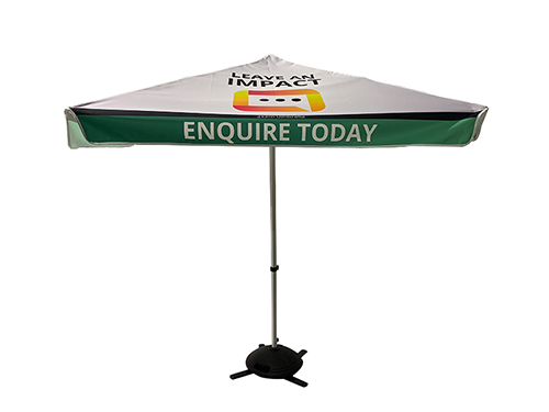 printed market umbrellas sunshine coast with optional base